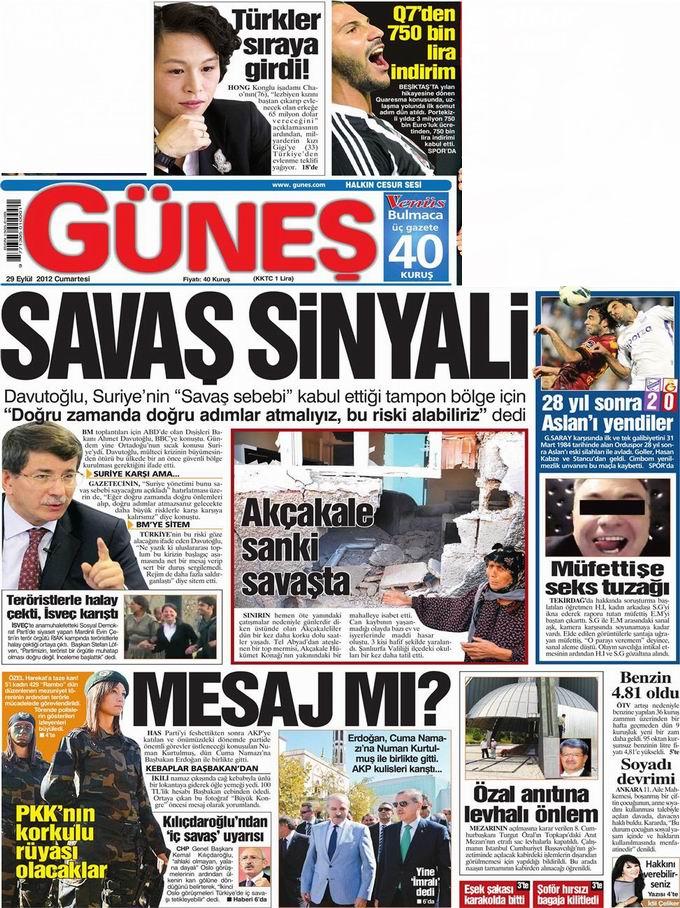 Gazete Manşetleri - 29 Eylül Cumartesi 20