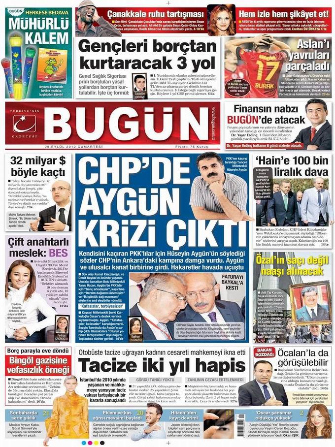 Gazete Manşetleri - 29 Eylül Cumartesi 23