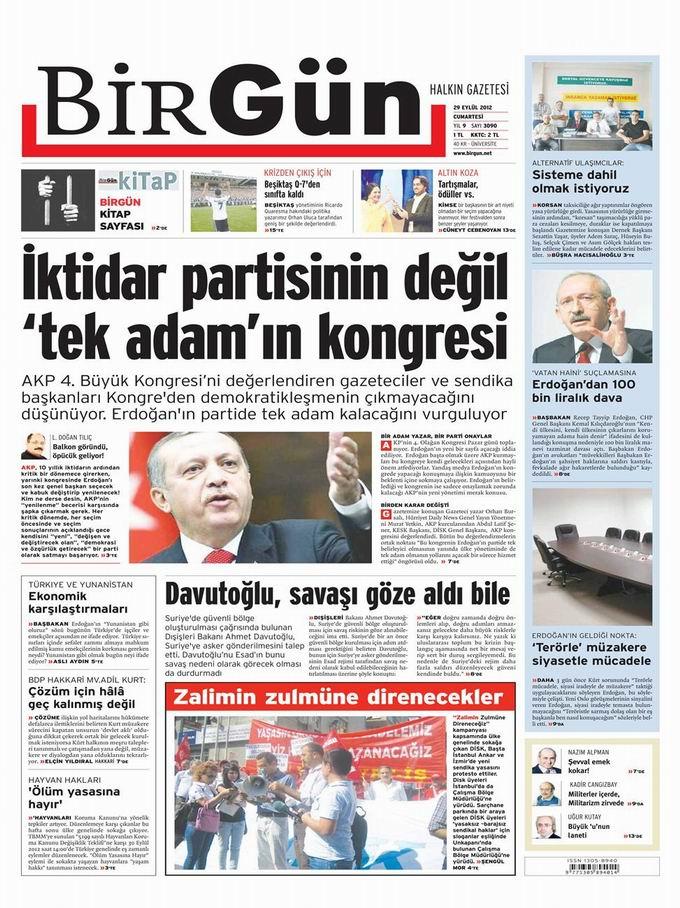 Gazete Manşetleri - 29 Eylül Cumartesi 24
