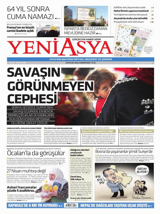 Gazete Manşetleri - 29 Eylül Cumartesi 3
