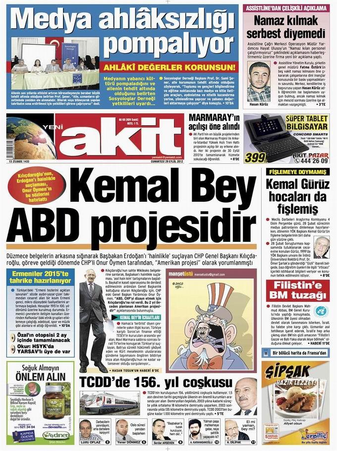 Gazete Manşetleri - 29 Eylül Cumartesi 4
