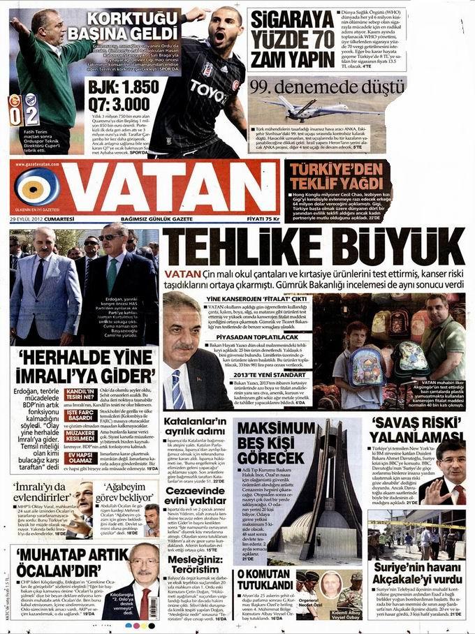 Gazete Manşetleri - 29 Eylül Cumartesi 5