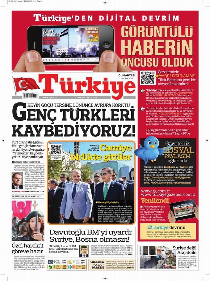 Gazete Manşetleri - 29 Eylül Cumartesi 6