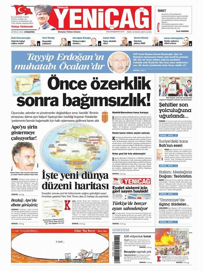 Gazete Manşetleri - 29 Eylül Cumartesi 7