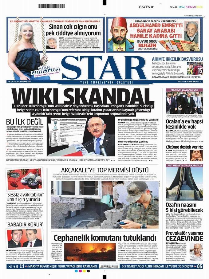 Gazete Manşetleri - 29 Eylül Cumartesi 9