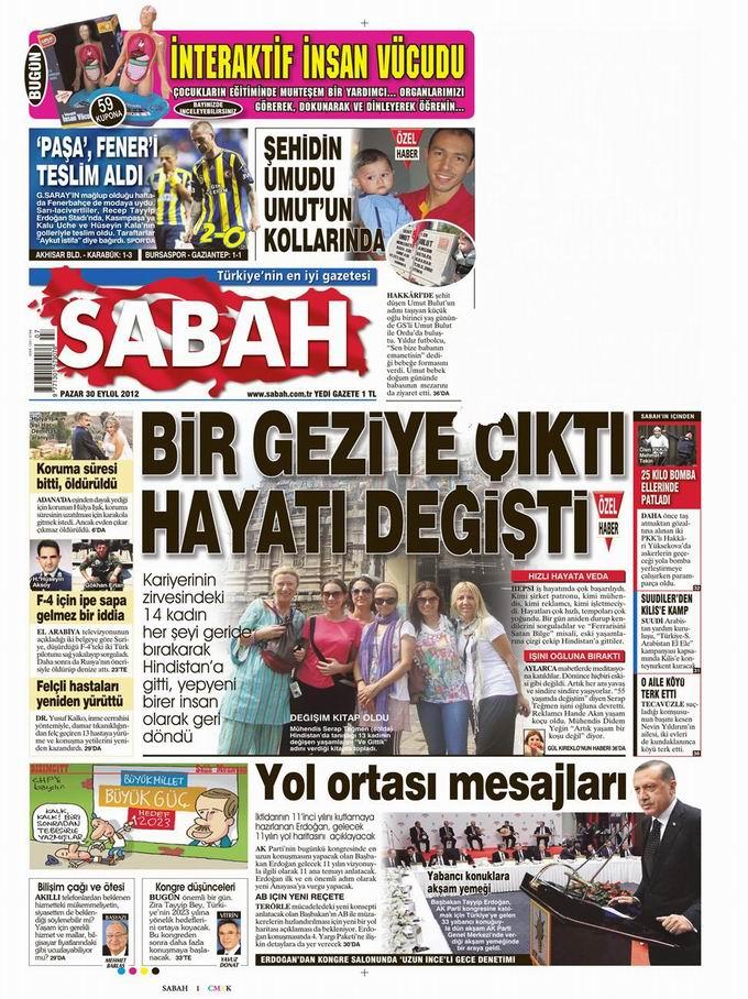 Gazete Manşetleri - 30 Eylül Pazar 11