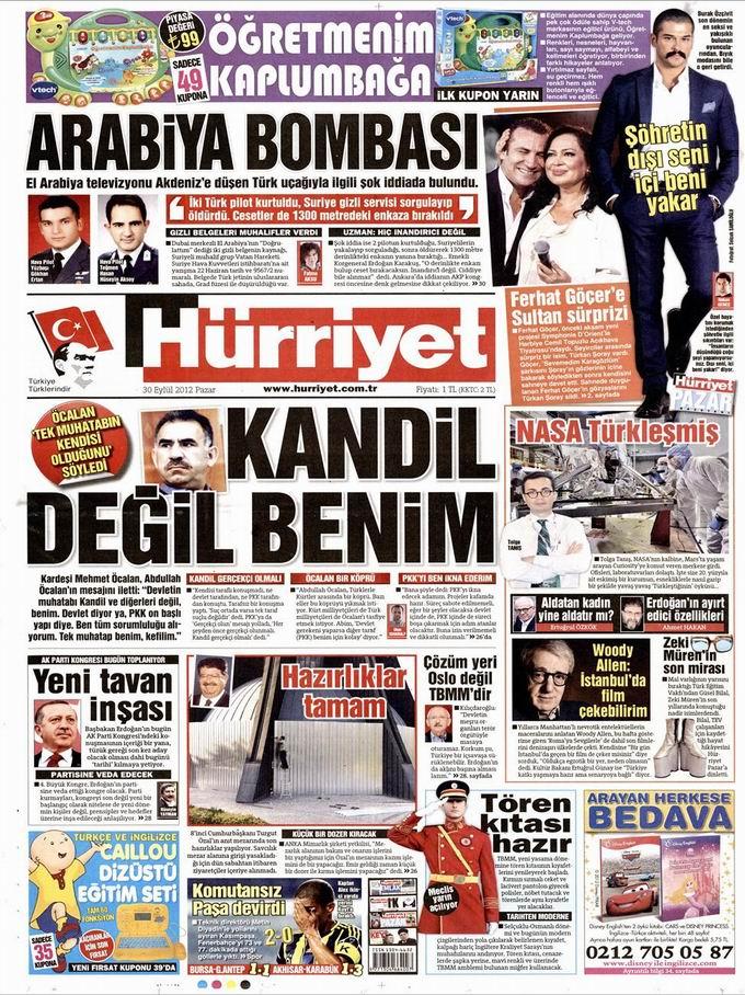 Gazete Manşetleri - 30 Eylül Pazar 17