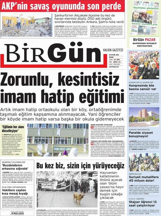 Gazete Manşetleri - 30 Eylül Pazar 21