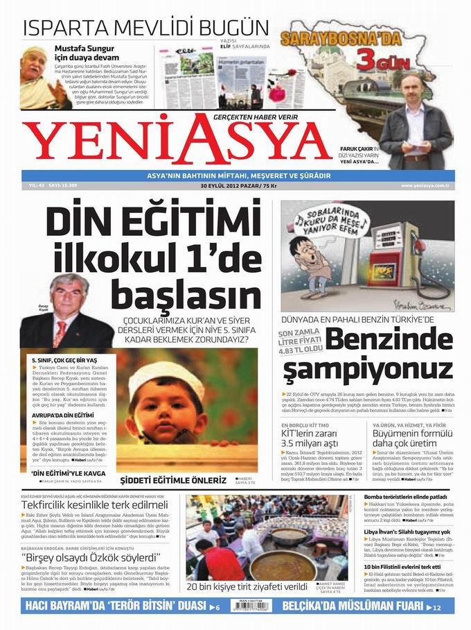 Gazete Manşetleri - 30 Eylül Pazar 3