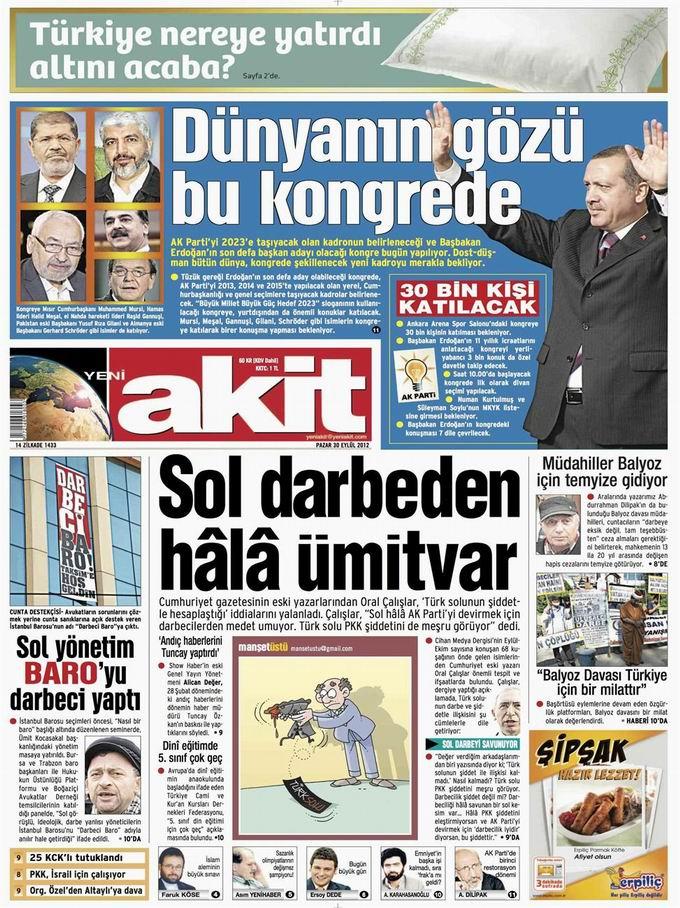 Gazete Manşetleri - 30 Eylül Pazar 4