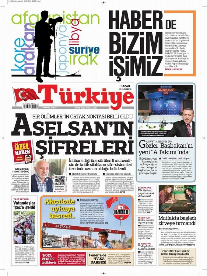 Gazete Manşetleri - 30 Eylül Pazar 6