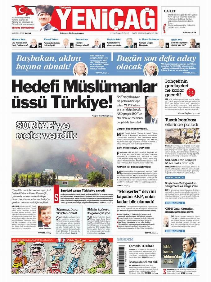 Gazete Manşetleri - 30 Eylül Pazar 7