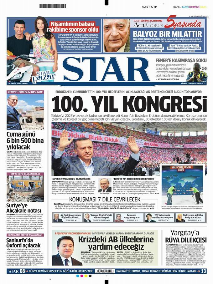 Gazete Manşetleri - 30 Eylül Pazar 9