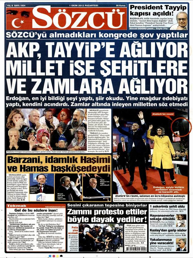 Gazete Manşetleri - 1 Ekim Pazartesi 10