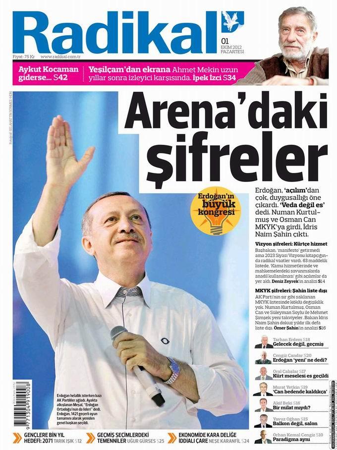 Gazete Manşetleri - 1 Ekim Pazartesi 12