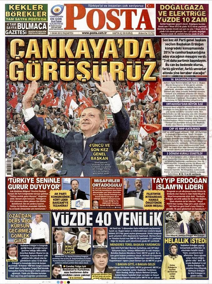 Gazete Manşetleri - 1 Ekim Pazartesi 13