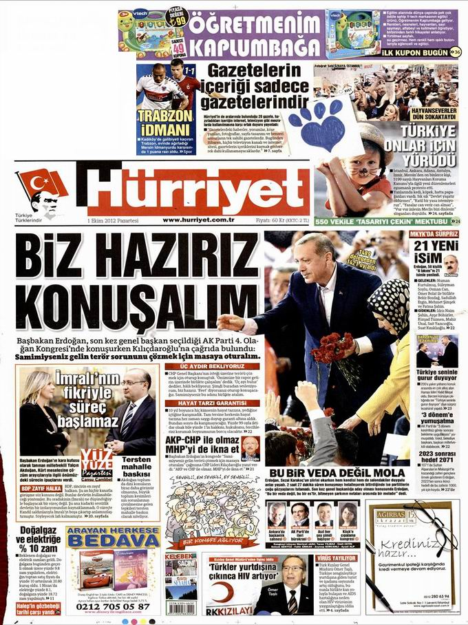 Gazete Manşetleri - 1 Ekim Pazartesi 17