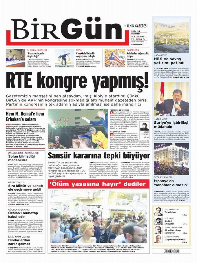 Gazete Manşetleri - 1 Ekim Pazartesi 21
