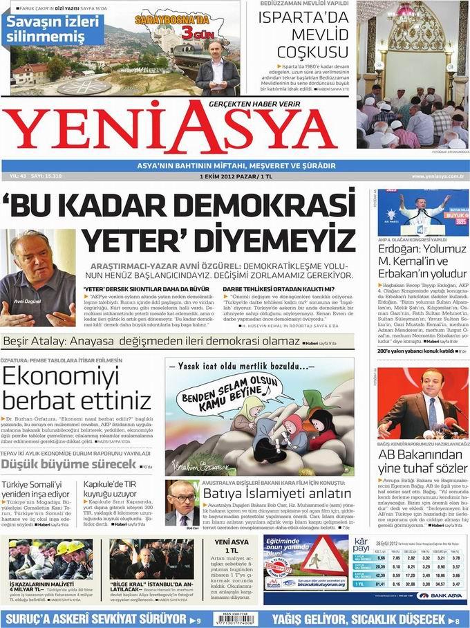Gazete Manşetleri - 1 Ekim Pazartesi 3