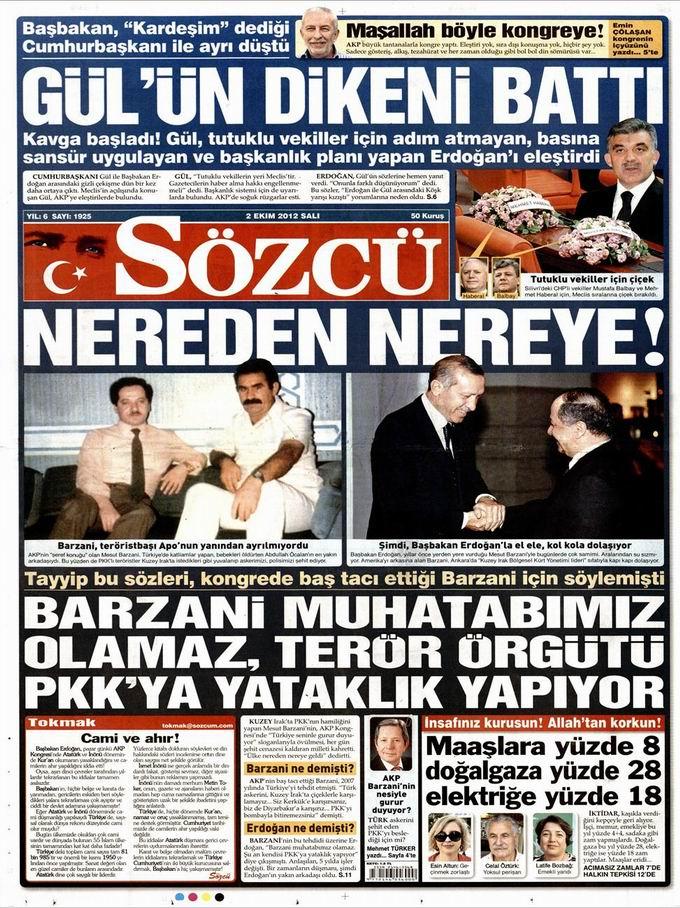 Gazete Manşetleri - 2 Ekim Salı 10