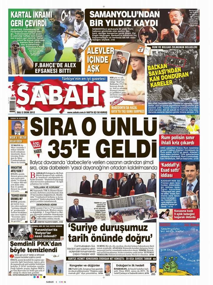 Gazete Manşetleri - 2 Ekim Salı 11