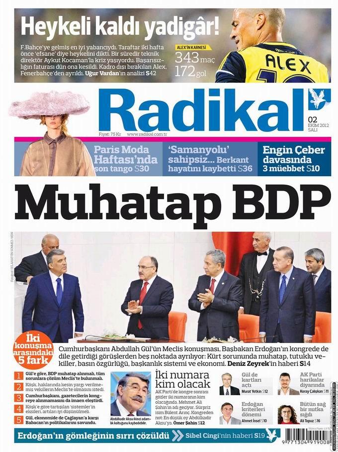 Gazete Manşetleri - 2 Ekim Salı 12