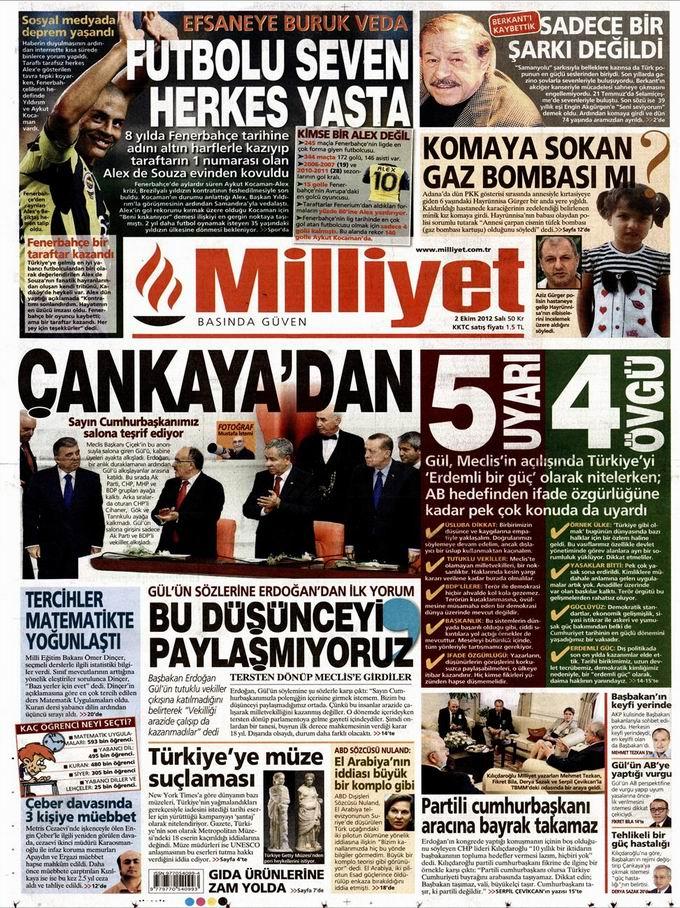 Gazete Manşetleri - 2 Ekim Salı 14