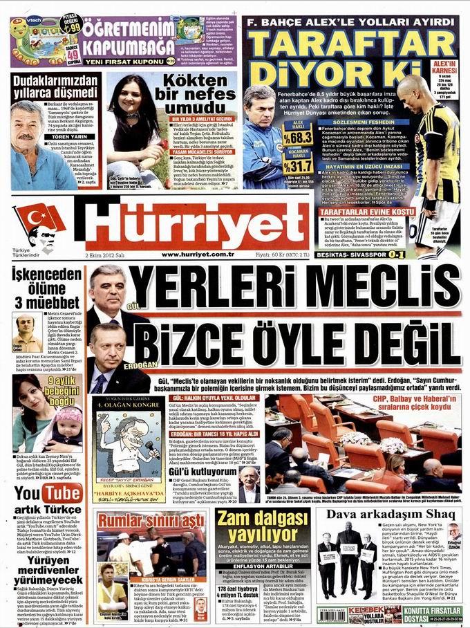 Gazete Manşetleri - 2 Ekim Salı 17