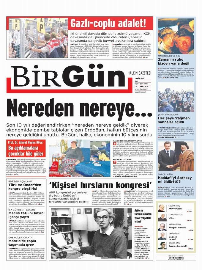 Gazete Manşetleri - 2 Ekim Salı 21
