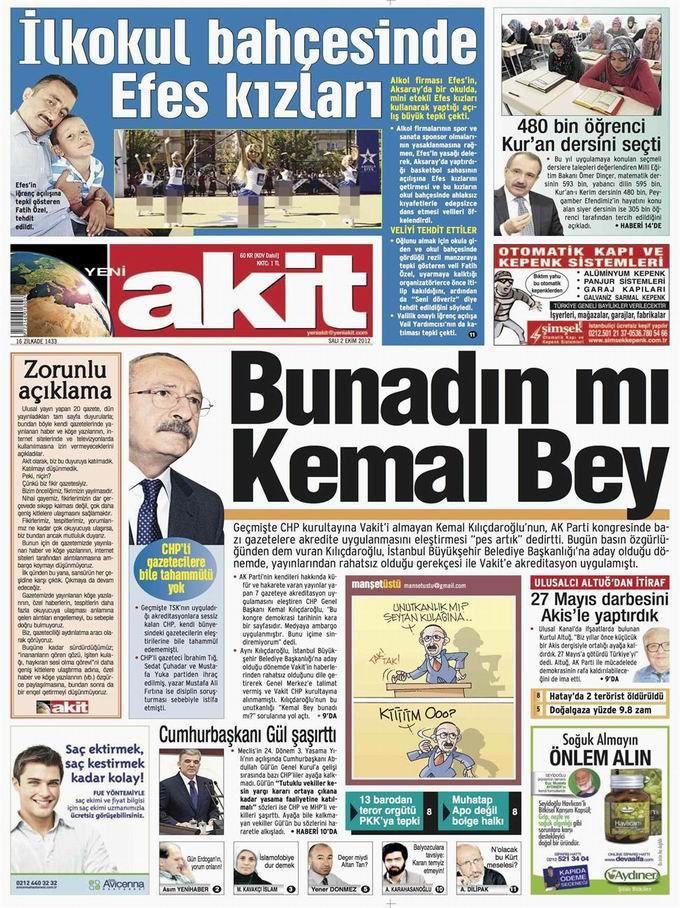 Gazete Manşetleri - 2 Ekim Salı 4