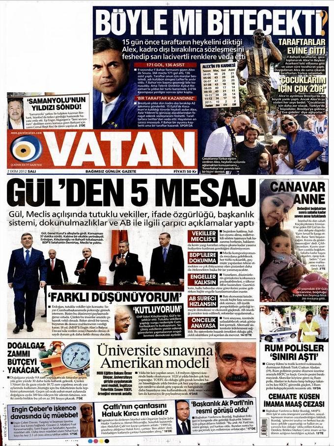 Gazete Manşetleri - 2 Ekim Salı 5