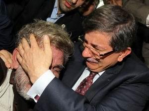 Ahmet Davutoğlu, Gazzede Gözyaşlarını Tutamadı!