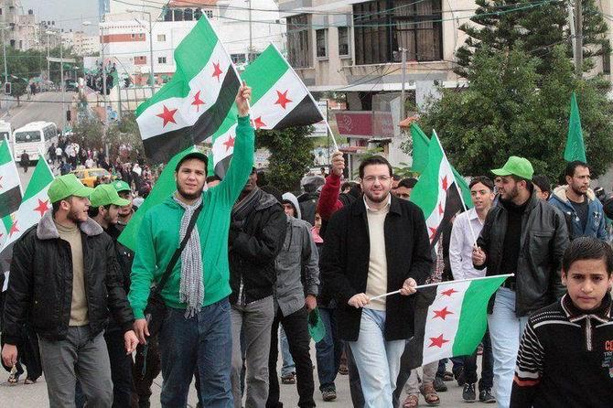 Gazze'de Özgür Suriye Bayrakları 1