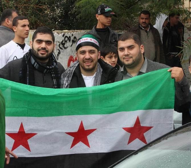 Gazze'de Özgür Suriye Bayrakları 10