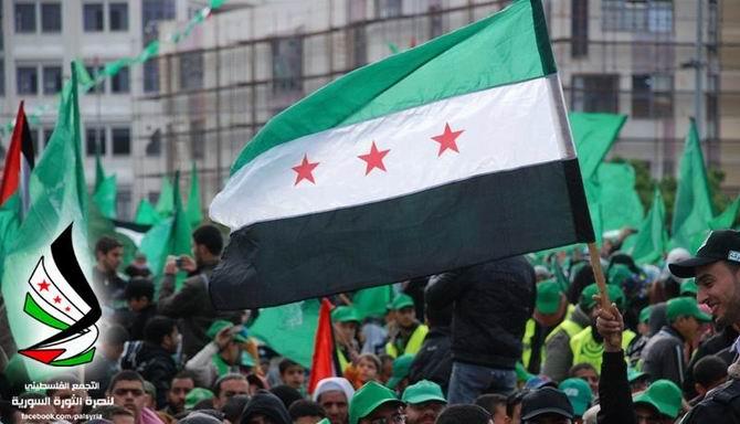 Gazze'de Özgür Suriye Bayrakları 14