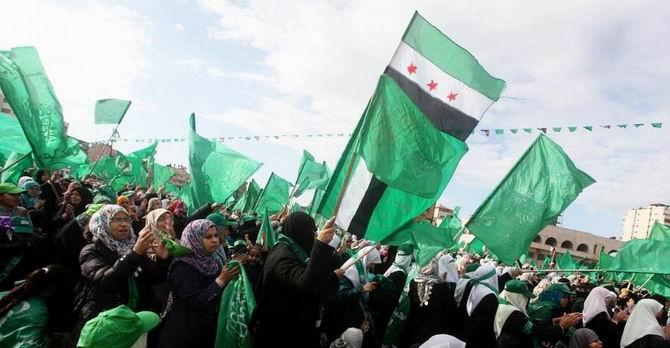 Gazze'de Özgür Suriye Bayrakları 2
