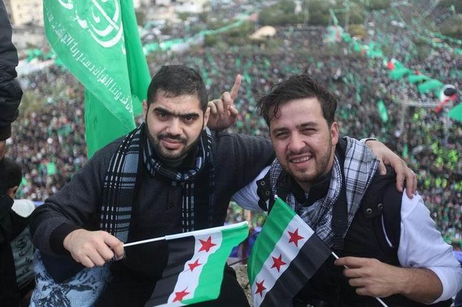 Gazze'de Özgür Suriye Bayrakları 4