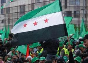 Gazze'de Özgür Suriye Bayrakları