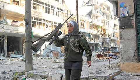 Halep'te Kadın Sniper 11