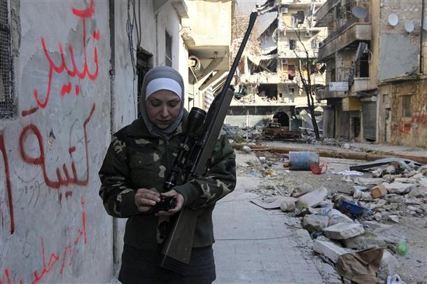 Halep'te Kadın Sniper 7
