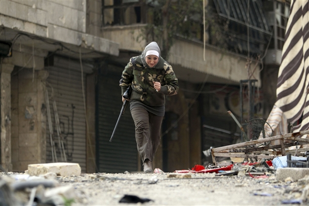 Halep'te Kadın Sniper 9