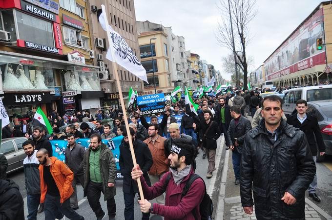 İstanbul'da Binler Suriye Cihadını Selamladı! 12