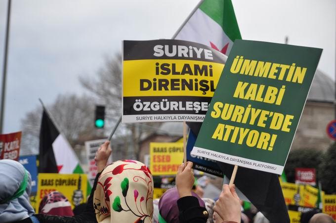 İstanbul'da Binler Suriye Cihadını Selamladı! 13