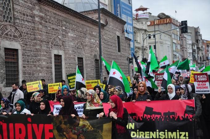İstanbul'da Binler Suriye Cihadını Selamladı! 14