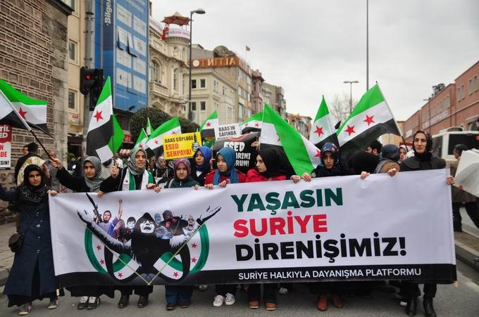 İstanbul'da Binler Suriye Cihadını Selamladı! 16