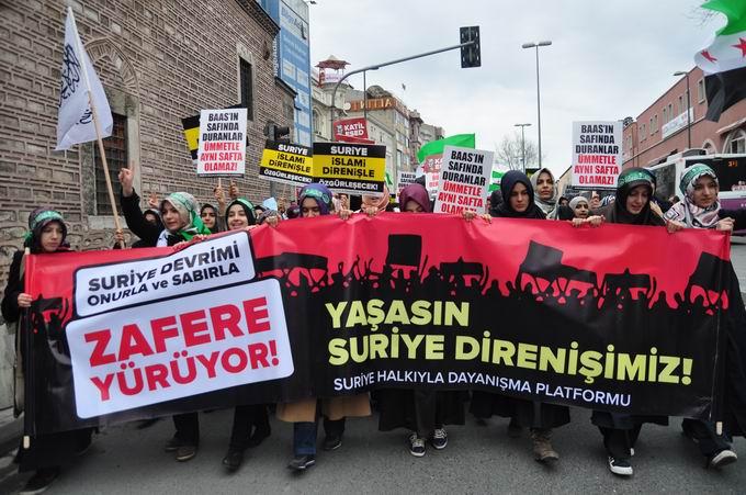 İstanbul'da Binler Suriye Cihadını Selamladı! 17