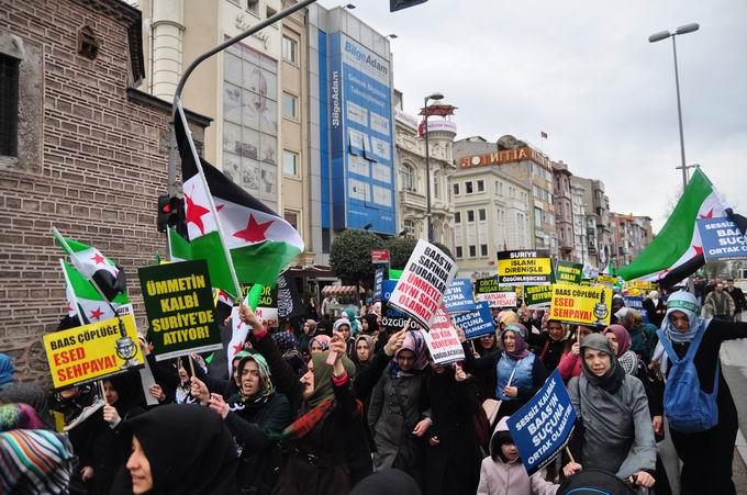 İstanbul'da Binler Suriye Cihadını Selamladı! 18