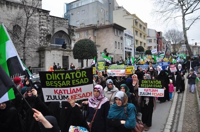İstanbul'da Binler Suriye Cihadını Selamladı! 26