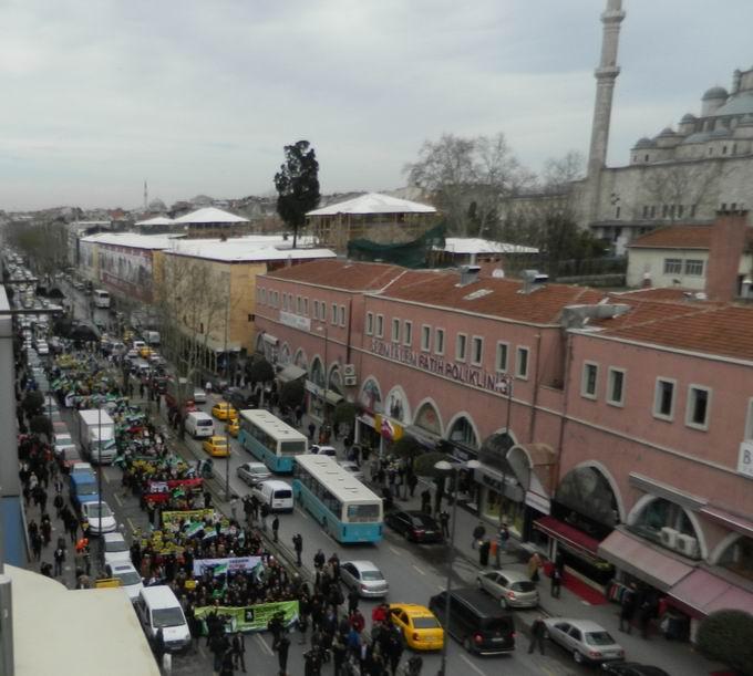 İstanbul'da Binler Suriye Cihadını Selamladı! 35