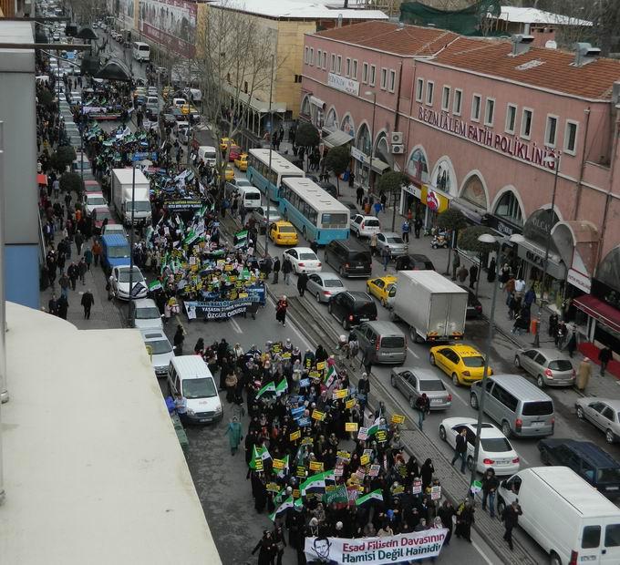 İstanbul'da Binler Suriye Cihadını Selamladı! 38